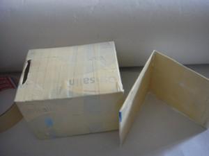 κουτί για σπιτάκι & χαρτόνι για σκεπή