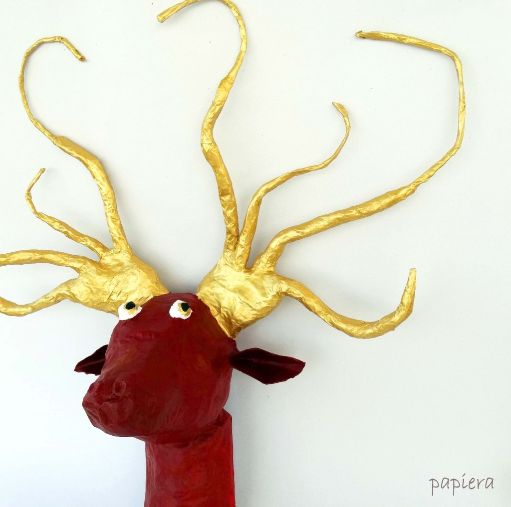 Christmas deer on the wall